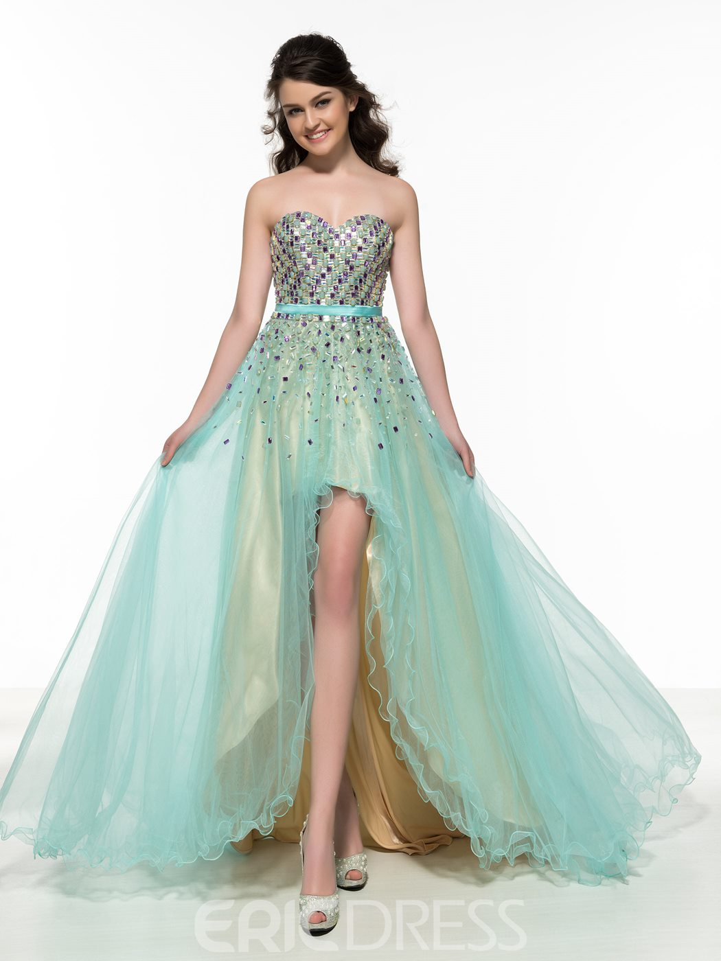 Ericdress Sweetheart Beading Asymmetry Prom Dress