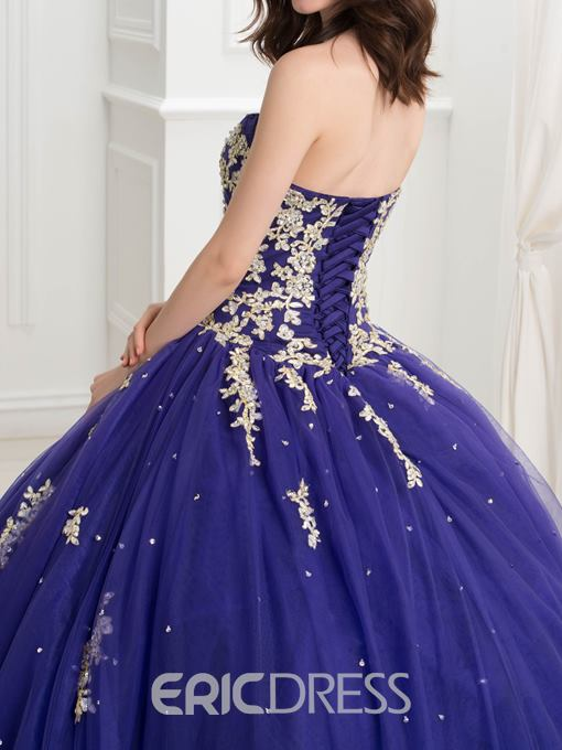 Ericdress Sweetheart Appliques Beading Ball Quinceanera Gown