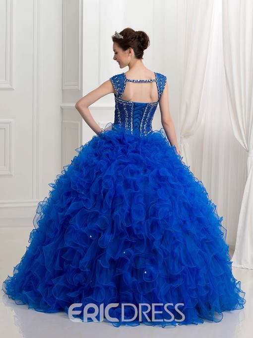 Ericdress Straps Beading Sequins Ball Gown Quinceanera Dress
