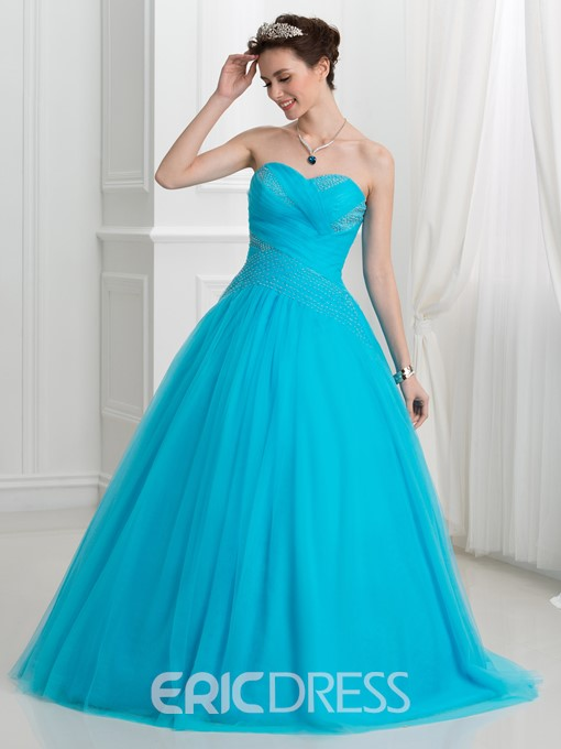 Ericdress Sweetheart Beading Pleats Ball Gown Quinceanera Dress