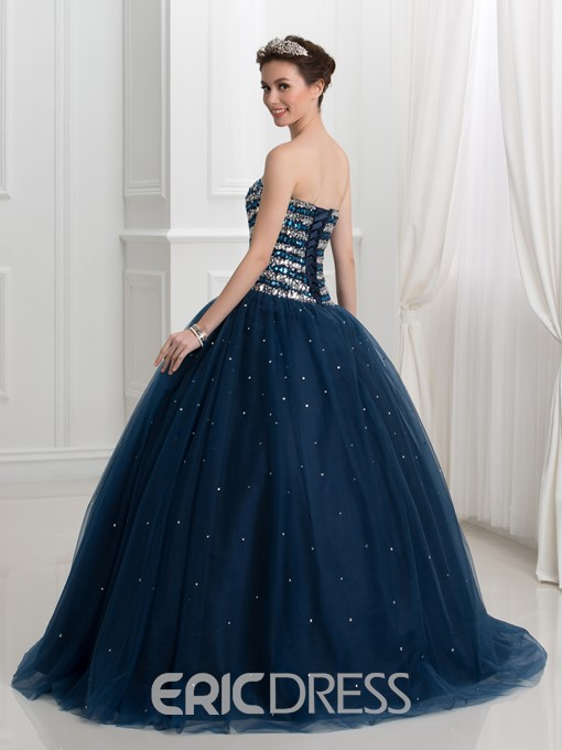 Ericdress Sweetheart Beading Sequins Ball Quinceanera Dress