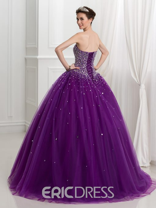 Ericdress Sweetheart Beading Lace-Up Ball Gown Quinceanera Dress