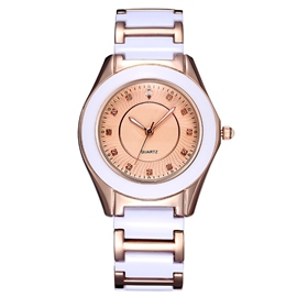 Ericdress Diamante Ceramics Belt Ladies Watch