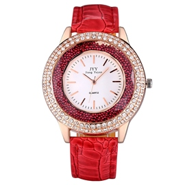 Ericdress Rolling Bead Decorated Scale Ladies Watch