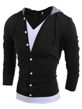 Ericdress Double-Layer-Design Pullover Herren-T-Shirt