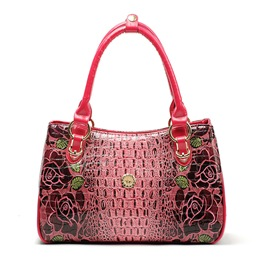 Ericdress Vintage Rose Embossed Handbag