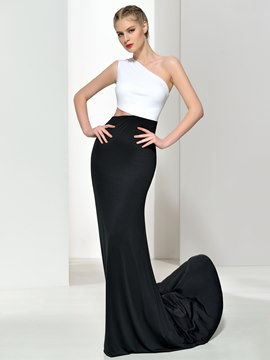 Ericdress Sheath One Shoulder Hollow Evening Dress