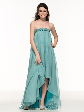 Ericdress A-Line Asymmetry Length Appliques Prom Dress