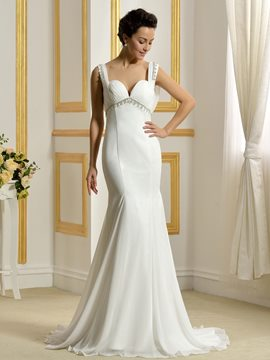 Ericdress Beautiful Backless Mermaid Wedding Dress