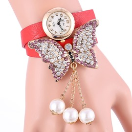 Ericdress Diamante Butterfly Belt Entwine Ladies Watch