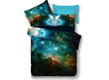Vivilinen Fabulous Charming Galaxy Print Polyester 4-Piece Duvet Cover Sets