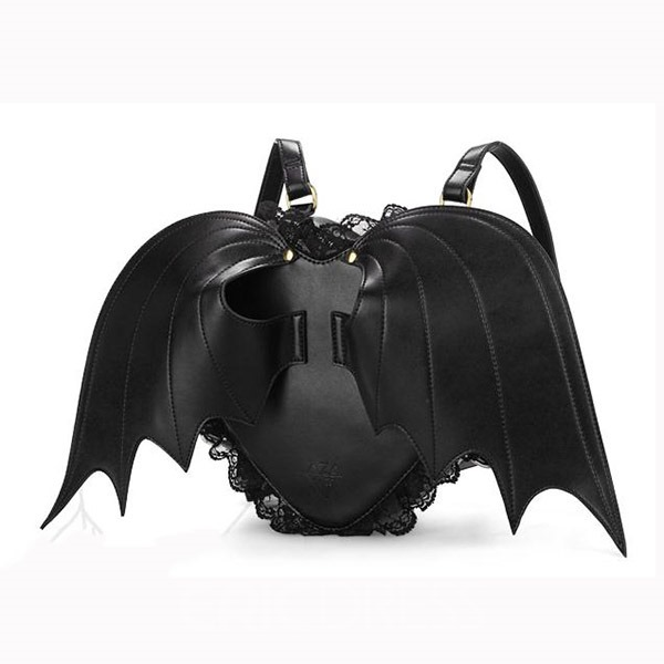 Ericdress Black Angle Bat Wing Backpack