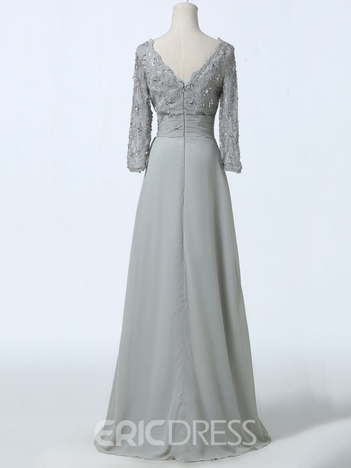 Ericdress Long Sleeves Sequins Lace Mother of the Bride Dress