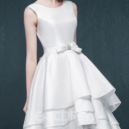 Ericdress Pretty Jewel A Line Asymmetry Wedding Dress