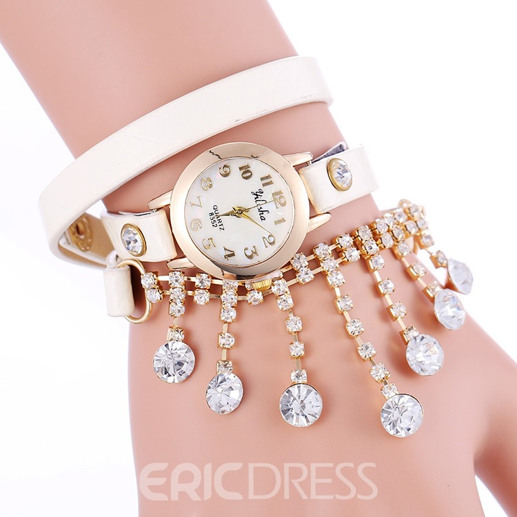 Ericdress Diamond Bracelet With Watch