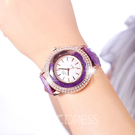 Ericdress JYY Rolling Bead Decorated Scale Ladies Watch