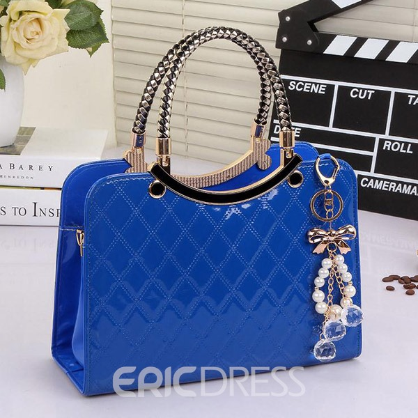 Ericdress Trendy Plaid Check Handbag