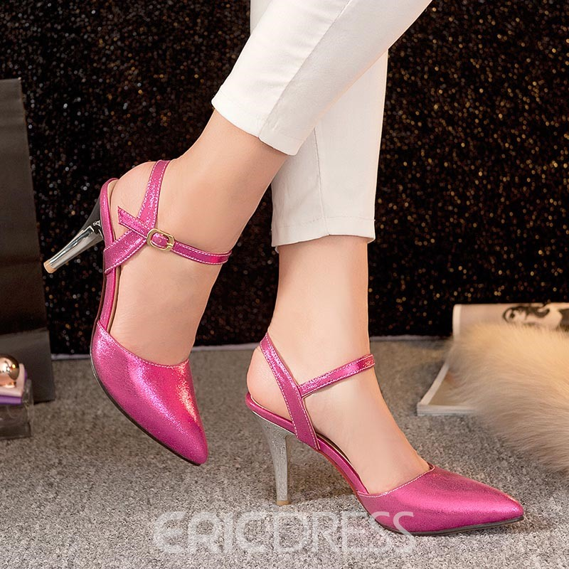 Ericdress Pretty Point Toe Stiletto Sandals