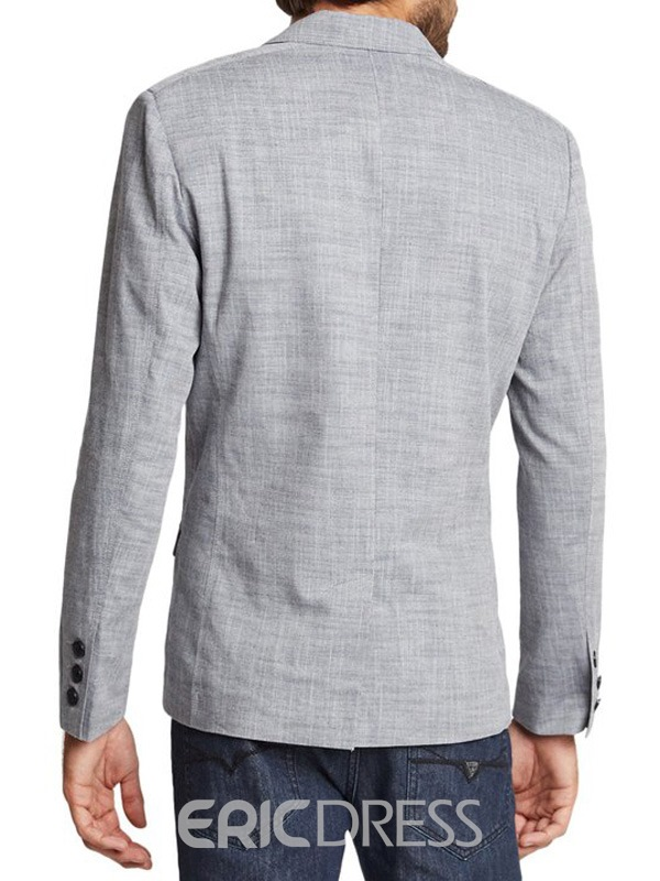 Ericdress Plain Casual Thin Linen Men's Blazer