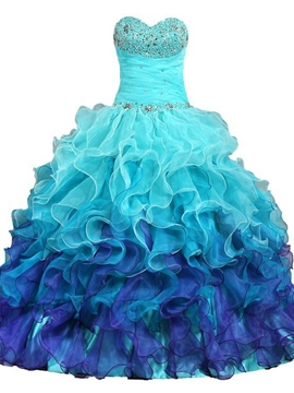 Ericdress Drmatic Sweetheart perles volants robe de Quinceanera
