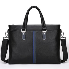 Ericdress Fashion Plain PU Thread Men's Tote Bags