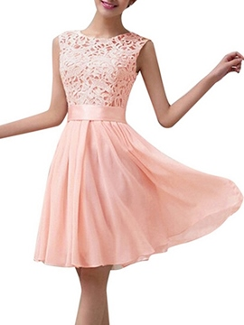 Ericdress Lace Knee Length Beach Bridesmaid Dress