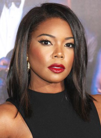 Wigsbuy Gabrielle Union Medium Straight Lace Front Human Hair Wig 12 Inches