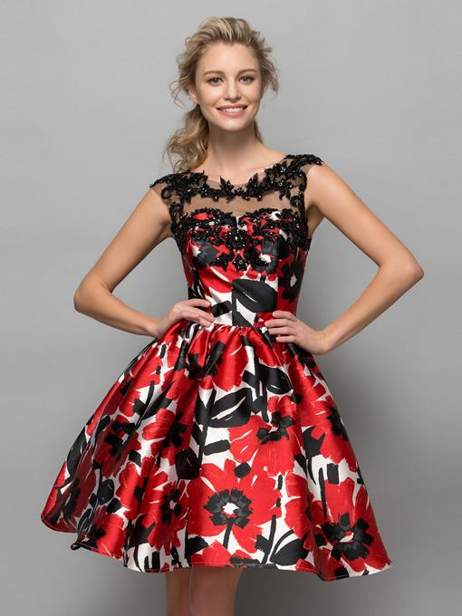 Ericdress Appliques Beading Print Homecoming Dress