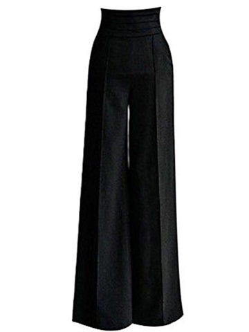Ericdress High-Waist Wide Legs Pants