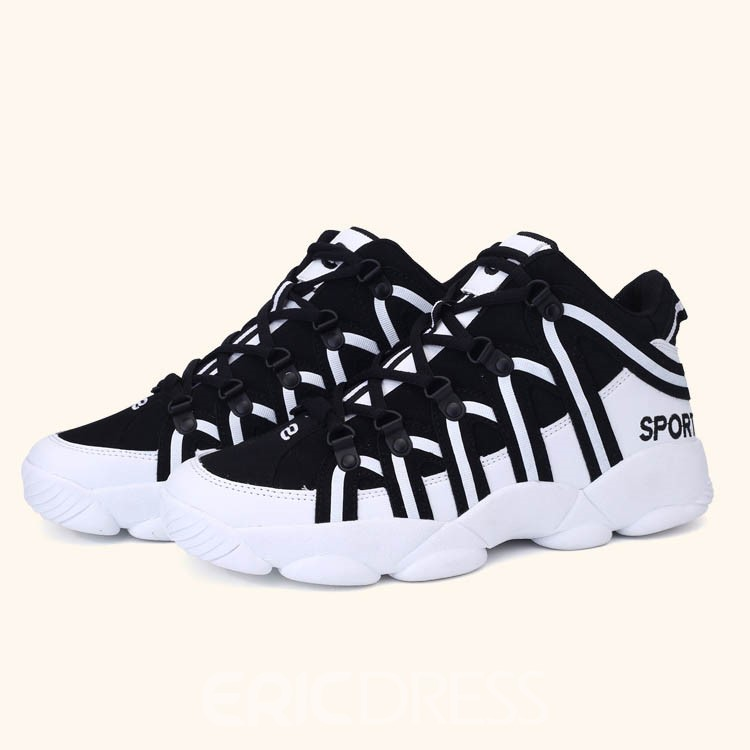 Ericdress PU Stripe Lace-Up Men's Sneakers