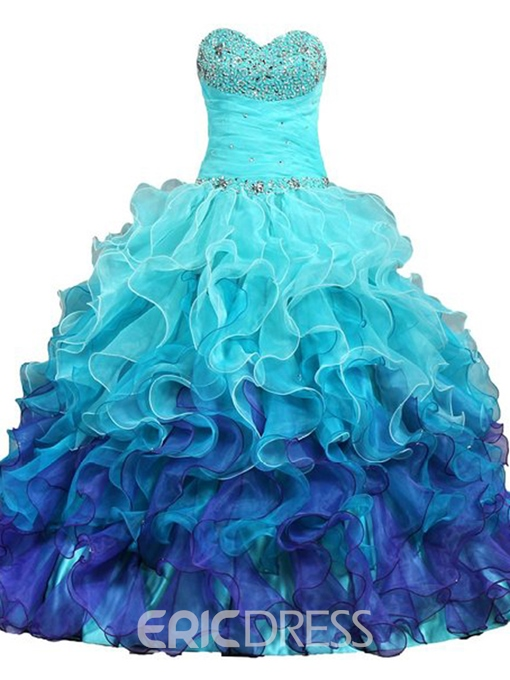 Ericdress Drmatic Sweetheart Beading Ruffles Quinceanera Dress