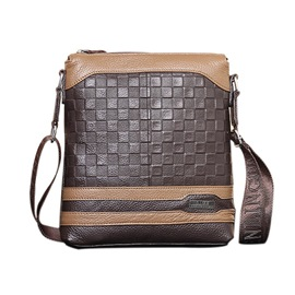 Ericdress Checked Men's Shoulder Bag