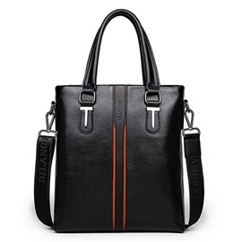 Ericdress PU Plain Belt-Decorated Rectangle Tote Bags