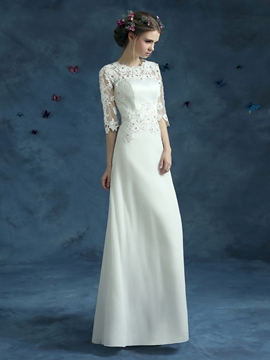 Ericdress Casual Half Sleeves A Line Wedding Dress