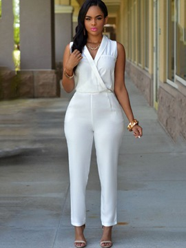 Ericdress V-Neck Jumpsuits Pants