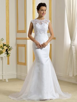 Ericdress Beautiful Lace Mermaid Wedding Dress