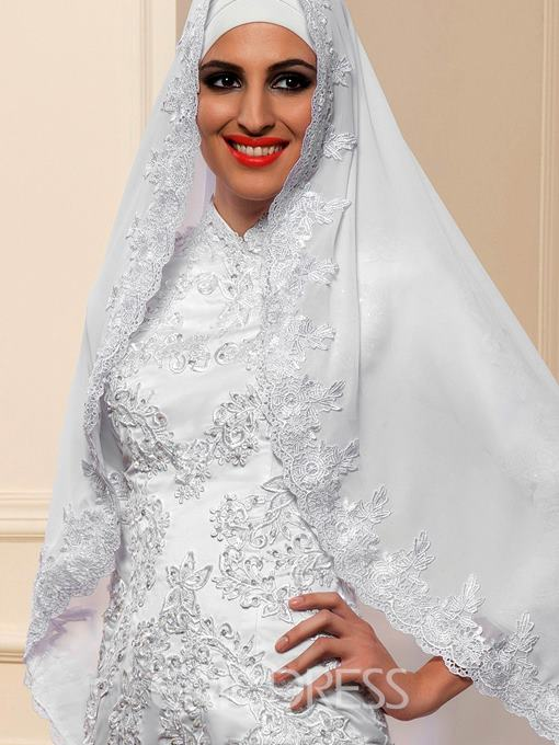 Ericdress Appliques High Neck Muslim Wedding Dress