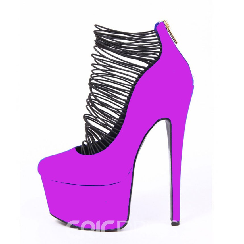 Stylish Colorful Platform Stiletto Prom Shoes