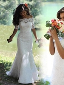 Ericdress Beautiful Off The Shoulder Lace Wedding Dress