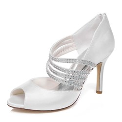 Ericdress Rhinestone Peep Toe Wedding Shoes - $56.96