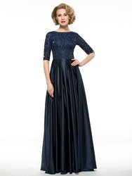Image of Ericdress Elegant Half Sleeves Lace A Line Mother Of The Bride Dress