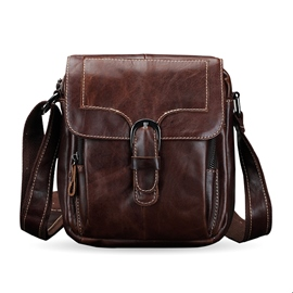 Ericdress Thread Fashion PU Rectangle Men's Shoulder Bags