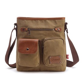 Ericdress Vintage Canvas Men's Shoulder Bag