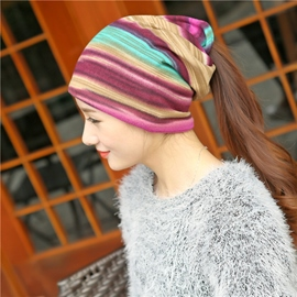 Ericdress Rainbow Stripe Hat