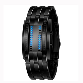 Cool Ericdress Wolfram acero binario LED Watch de Men