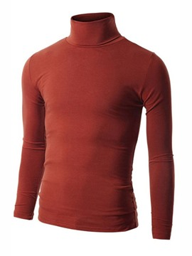 Ericdress Plain Turtleneck Slim Men's Knitwear
