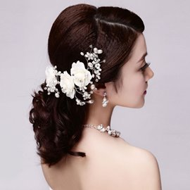 Ericdress Beautiful Pearls Hair Flower