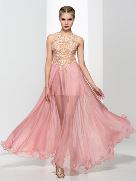 Ericdress A-Line Criss-Cross Straps Appliques Sequins Prom Dress