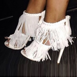 Ericdress European Stiletto Sandals with Tassels