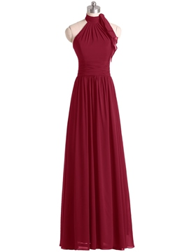 Ericdress Halter A Line Long Bridesmaid Dress